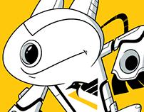 Pittsburgh Penguins themed robot