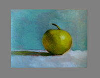 Apple Still life Oil 297 X 210 mm 10.11.2016.