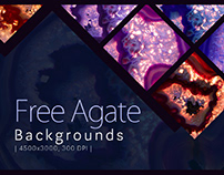 8 FREE AGATE BACKGROUNDS