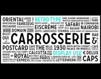 Retro Font Carrosserie