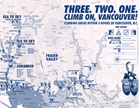 Rock Climbing Map: Vancouver, British Columbia