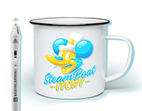 SteamBoat Itchy - Mug + Tee Design - Digital Oatmeal