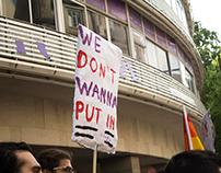Manif contra campos de concentração para gays part I