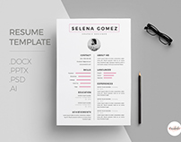 Cv template, Cover letter template