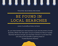 Trusted Business Reviews - Be Found in Local Searches
