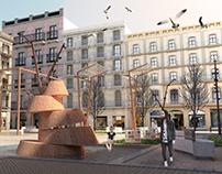 Diseño y Representación de una Plaza en Barcelona