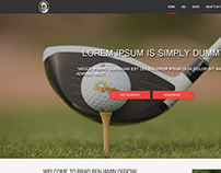 Concept Homepage (Golfer Brad Benjamin)