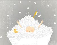 Enjoyable Bath Illustration