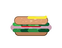 2GO Fresh Sandwich Shop Illustration