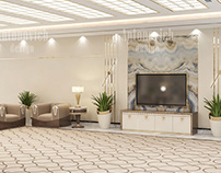 Spacious Luxury Hall Interior Design