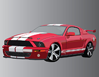 illustration car model