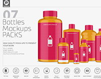 Chemical Bottles Mockup