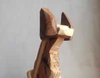 CAT(wooden sulpture)
