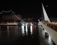 Women's bridge, Puerto Madero, Buenos Aires, Argentina