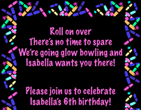6th Birthday Party Invitation
