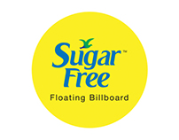 Sugarfree Floating Billboard