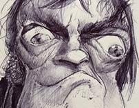 Jack Elam - Ballpoint pen Caricature