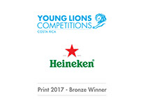 Young Lions Costa Rica 2017 / Print - Bronze Winner