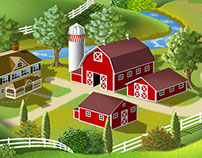 2 Farm Scenes for Milk Containers