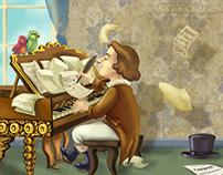 Chopin magazine illustration without text...
