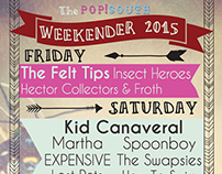 Pop!South Weekender Poster