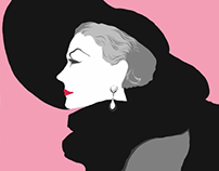 1950s Inspired Fashion Illustrations