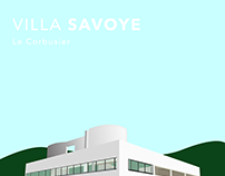 Villa Savoye - Le Corbusier Illustration