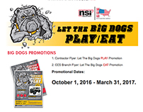 Let The Big Dogs Play/Eat Email Design