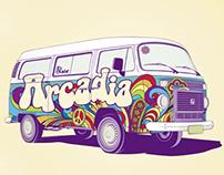 """ARCADIA"" Book cover"