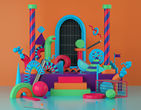 OFFF Festival 3D Illustration