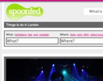 Spoonfed.co.uk website