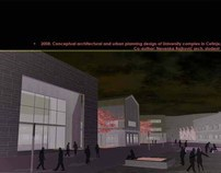 Conceptual design of University complex In Cetinje