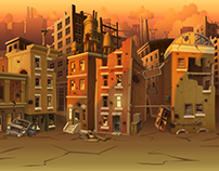 Postapocalypse seamless game backgrounds