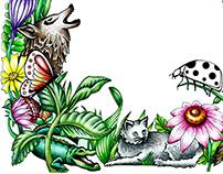 """""""Boskie zwierzęta"""" frame / Hand drawing"""