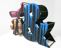 Typography Sculpture