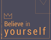 عليك أن تؤمن بنفسك