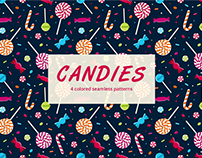 Candy Vector Seamless Free Pattern
