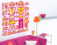 "Wall sticker for ""FUGU"""
