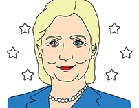 Hillary and Bill Clinton Caricatures