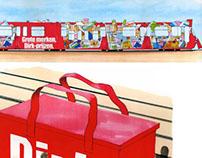 Dirk supermarkets: tram concept