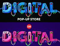 CNA 3D typography