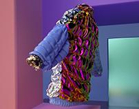 Technicolored Puffer - Digital Fashion