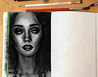 Illustration - Hyperrealistic portrait.