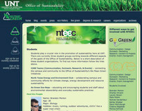 UNT: Office of Sustainability website design