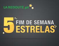 Fim de Semana 5 Estrelas - La Redoute | Layouts