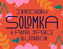 Solomka - Sans Condensed Typeface + Illustration