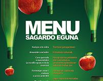Cartel publicitario Sagardo Eguna