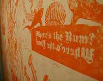 """""""Where's the Rum?"""" Wallpaper Gallery Installation"""