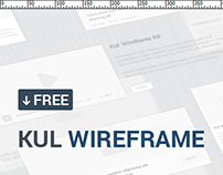 20 Elements FREE KUL UI Wireframe Kit [DOWNLOAD]