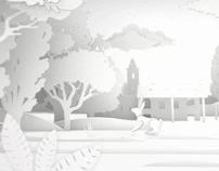 A white landscape